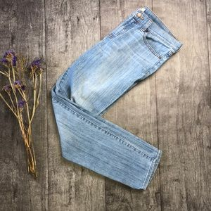 J. Crew Mid Rise Light Wash Skinny Jeans - 28